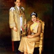 ภาพคู่ในหลวงและราชินี