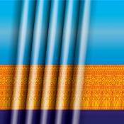 พื้นหลังลายผ้าไทย002