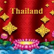 พื้นหลังลายไทยสระบัว